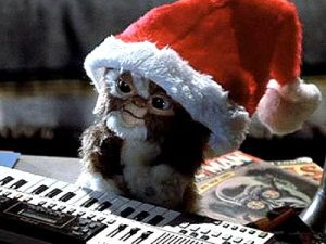 Mogwai in a Christmas hat