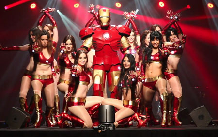 Iron Man and girls