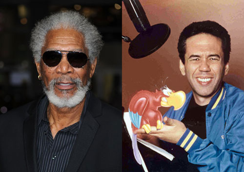 Morgan Freeman and Gilbert Gottfried
